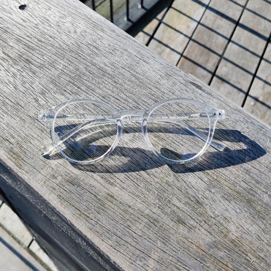 Hipster Skærmbriller Gennemsigtig