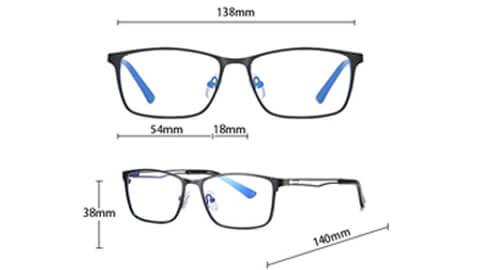 Sov Bedre – 5927 – Anti Blåt lys – Skærmbriller – Briller mod blåt lys - Excec skærmbriller størrelse