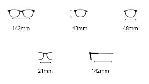 Sov Bedre - 4203 - Anti Blåt lys - Skærmbriller - Briller mod blåt lys - Hipster - Størrelse