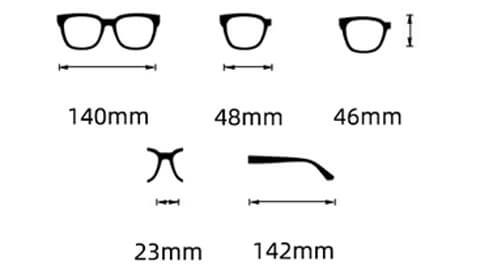 Sov Bedre - 5052 - Anti Blåt lys - Skærmbriller - Briller mod blåt lys - Freestyler - Størrelse