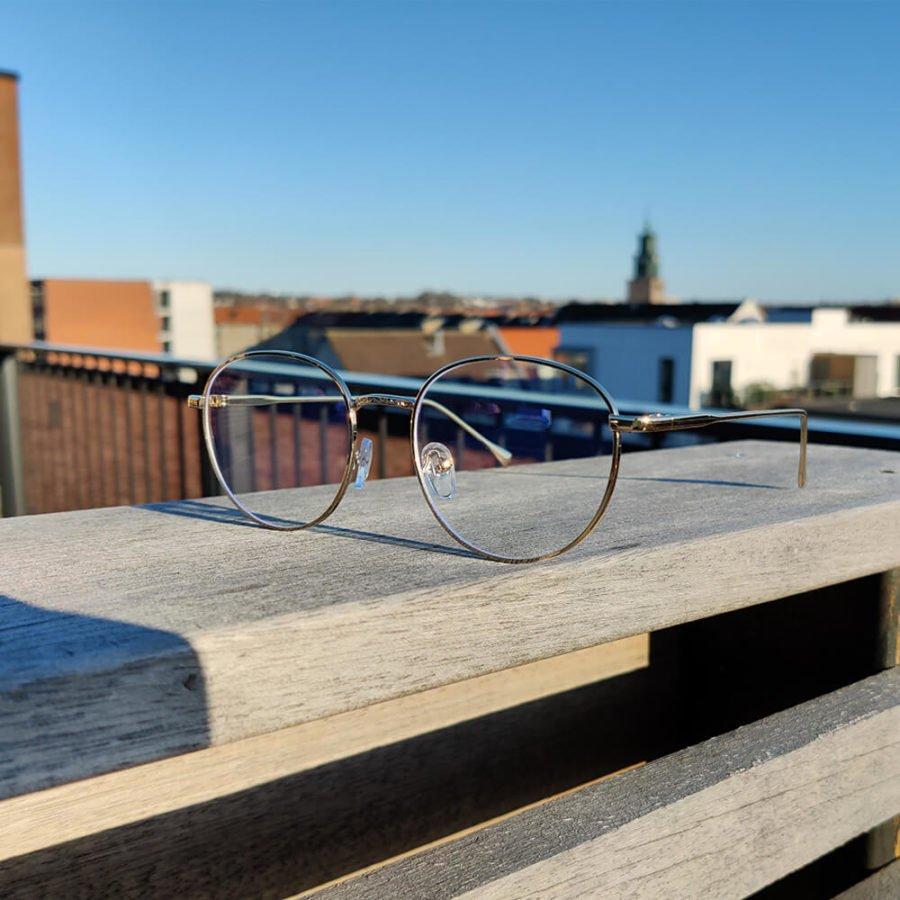 Sov Bedre - Ikon - Anti Blåt lys - Skærmbriller - Briller mod blåt lys - Blue Light Briller - Guld 3
