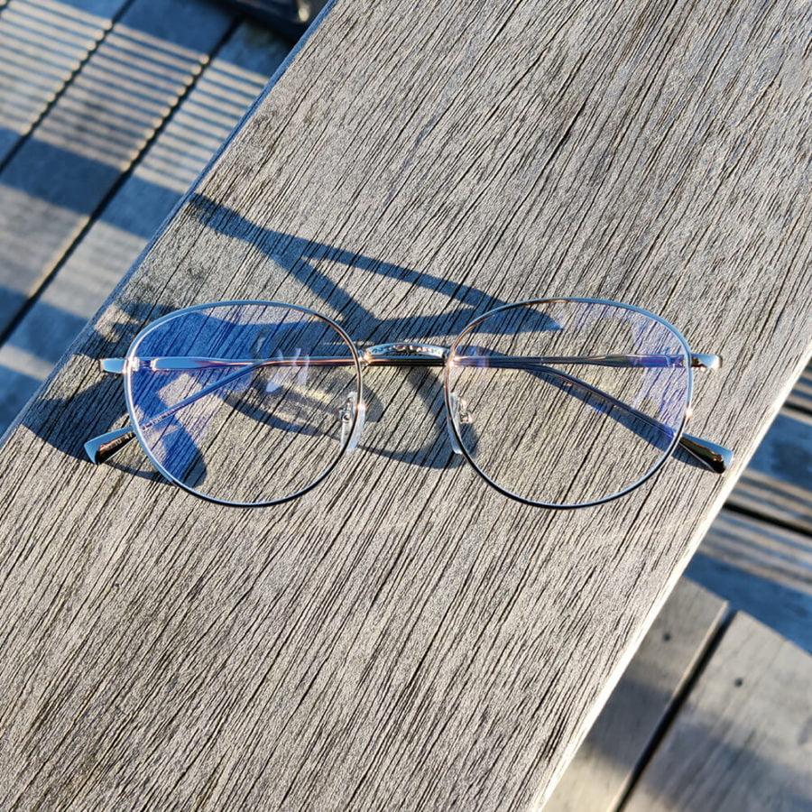 Sov Bedre - Ikon - Anti Blåt lys - Skærmbriller - Briller mod blåt lys - Blue Light Briller - sølv 1