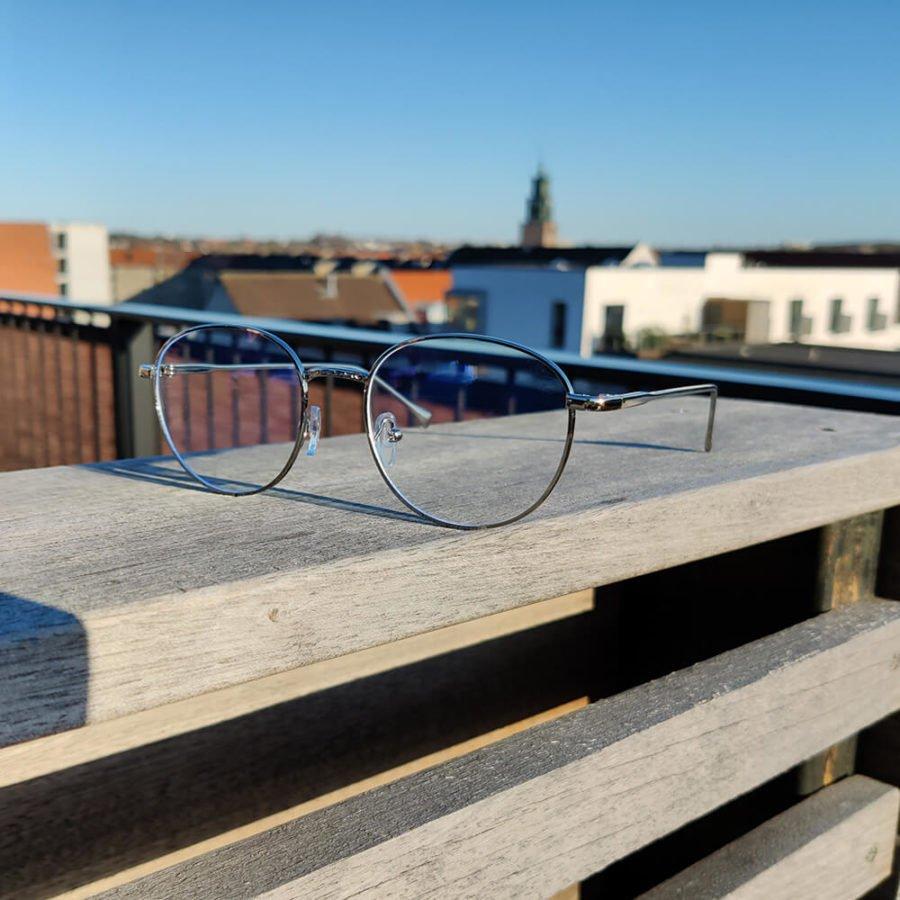 Sov Bedre - Ikon - Anti Blåt lys - Skærmbriller - Briller mod blåt lys - Blue Light Briller - sølv 2
