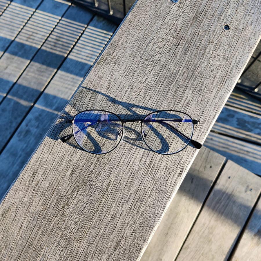 Sov Bedre - Ikon - Anti Blåt lys - Skærmbriller - Briller mod blåt lys - Blue Light Briller - sort 1