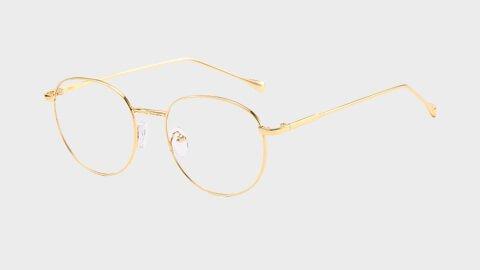 Sov Bedre - Ikon - Anti Blåt lys - Skærmbriller - Briller mod blåt lys - Guld 480x270