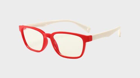 Skærmbriller-til-børn-briller-mod-blåt-lys beskytditsyn rød hvid lille