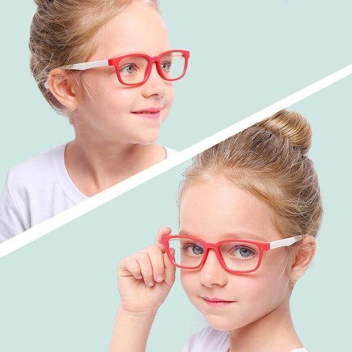Skærmbriller-til-børn-briller-mod-blåt-lys beskytditsyn rød hvid 3