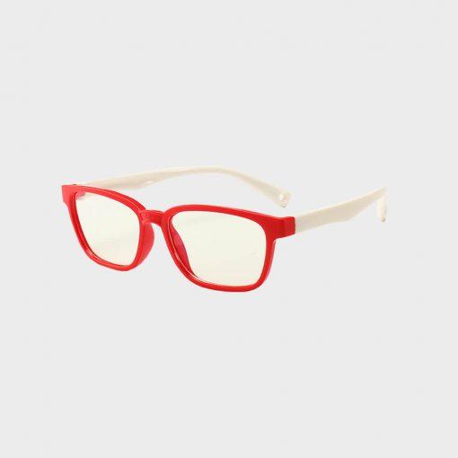 Skærmbriller-til-børn-briller-mod-blåt-lys beskytditsyn rød hvid