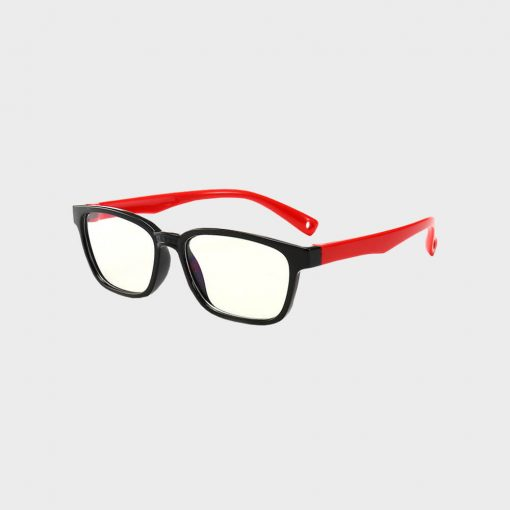 Skærmbriller-til-børn-briller-mod-blåt-lys beskytditsyn sort rød
