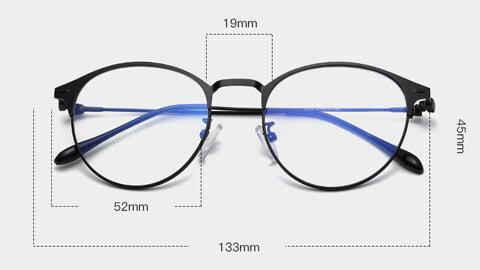 Moderne Skærmbriller - Anti Blåt lys – Briller mod blåt lys Guld Størrelse