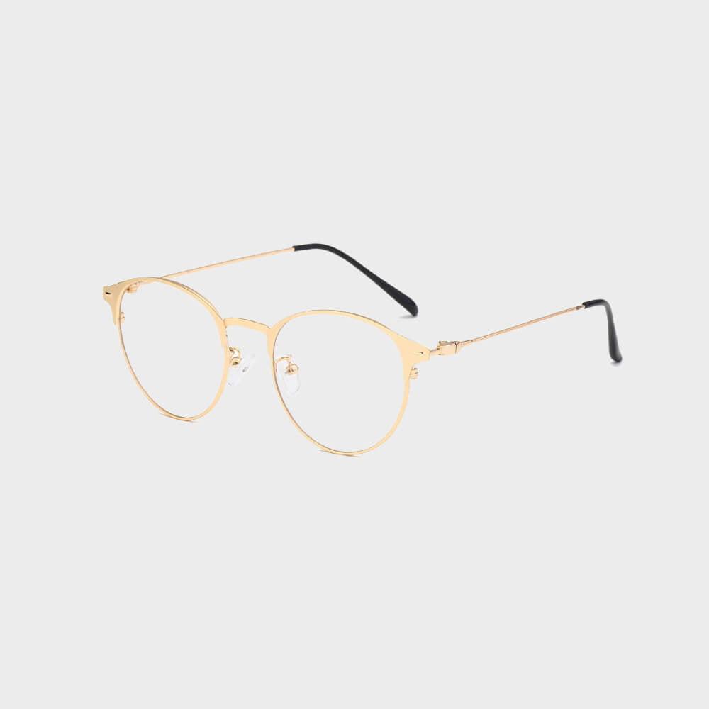 Moderne Skærmbriller - Anti Blåt lys – Briller mod blåt lys Guld