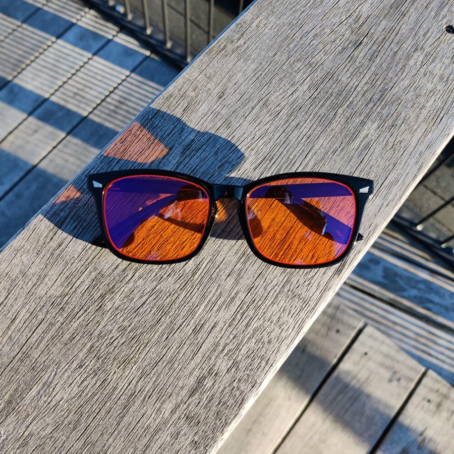 Twilight skærmbriller mod blå lys blue light briller uden styrke nattebriller sov bedre brille Sort 1