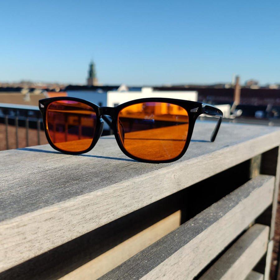 Twilight skærmbriller mod blå lys blue light briller uden styrke nattebriller sov bedre brille Sort 2
