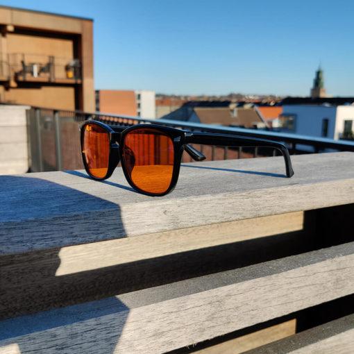 Twilight skærmbriller mod blå lys blue light briller uden styrke nattebriller sov bedre brille Sort 3