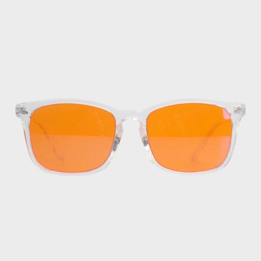 Twilight skærmbriller mod blå lys blue light briller uden styrke nattebriller sov bedre briller Gennemsigtig 1