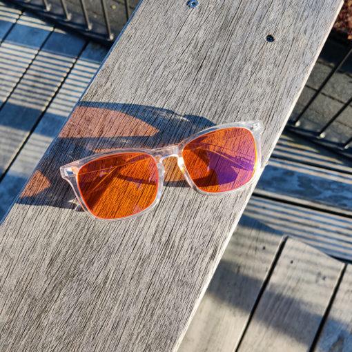 Twilight skærmbriller mod blå lys blue light briller uden styrke nattebriller sov bedre briller Gennemsigtig 3