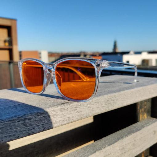 Twilight skærmbriller mod blå lys blue light briller uden styrke nattebriller sov bedre briller Gennemsigtig 4