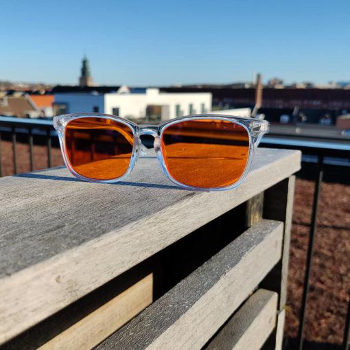 Twilight skærmbriller mod blå lys blue light briller uden styrke nattebriller sov bedre briller Gennemsigtig 5