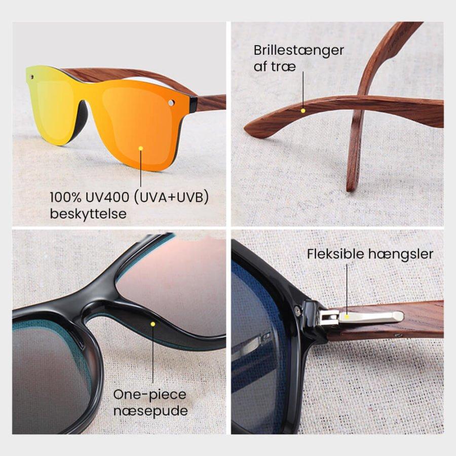 Square polariserede solbriller 3